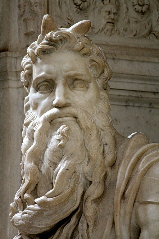Mojżesz – fragment rzeźby Michała Anioła, fot. Jörg Bittner Unna