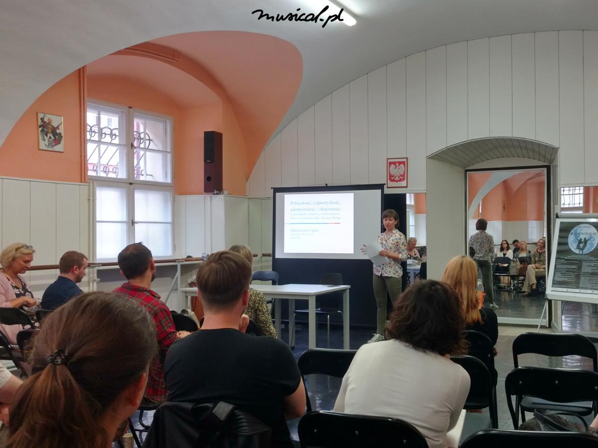 Prelekcja Małgorzaty Lipskiej na konferencji Republika musicali w Poznaniu, fot. archiwum prywatne