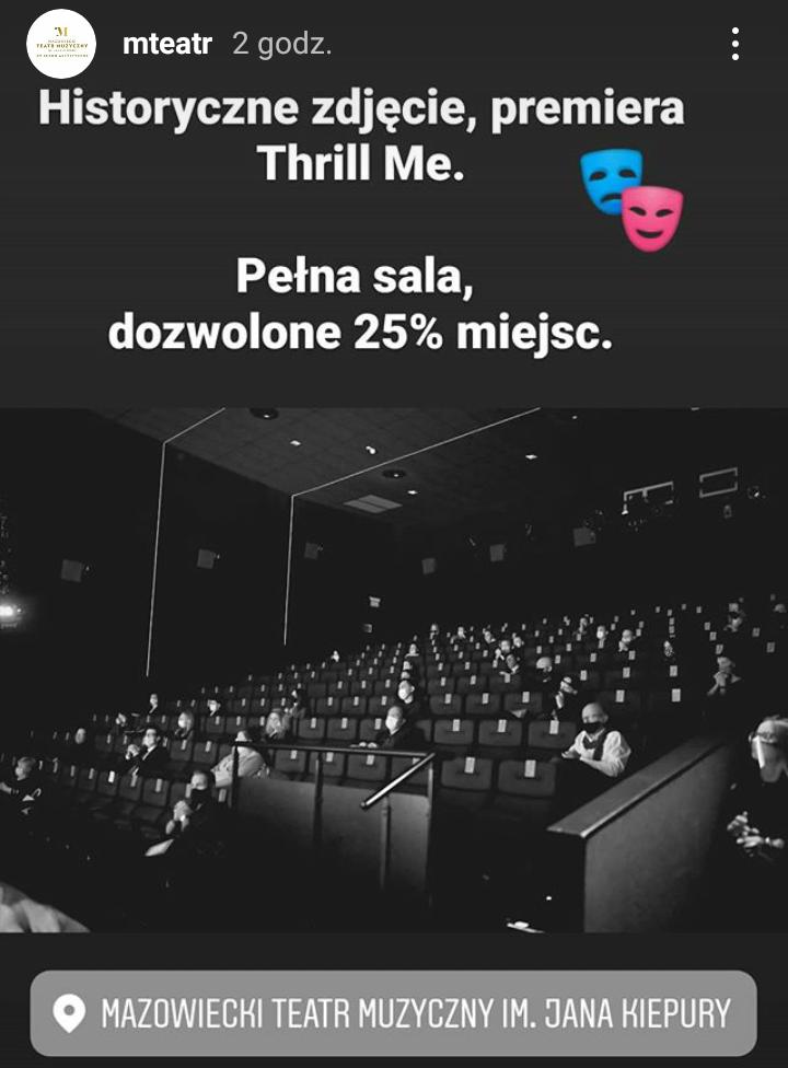 Thrill Me, Mazowiecki Teatr Muzyczny w Warszawie, 16 października 2020, fot. Marek Popowski