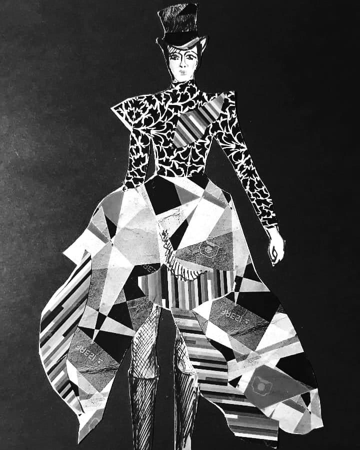 Pierwsza koncepcja kostiumu Heleny Modrzejewskiej autorstwa Agaty Uchman, Virtuoso, Teatr Muzyczny w Poznaniu 2000
